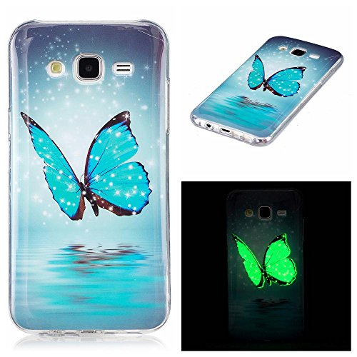 Firefish Galaxy J5 Prime Case, Luminous Effect Fluorescent Glow in The Dark [Anti Slip] Soft TPU Silicone Back Panel Protective Cover Case for Samsung Galaxy J5 Prime-Dream Catcher