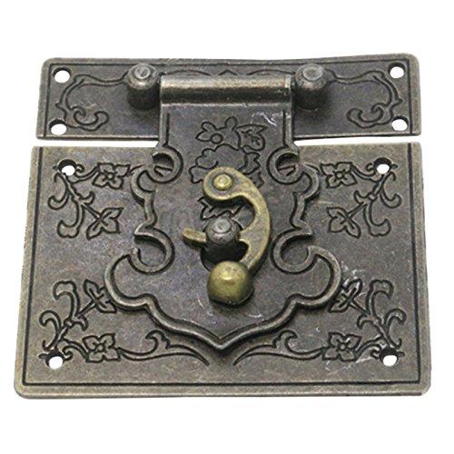 Pestillo de caja - SODIAL(R)85mmx85mm Hebilla Pestillo Fiador Cerrojo decorativo de maleta caja de estilo retro