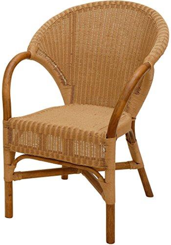 Esszimmer Loom Rattan Sessel mit Loom Geflecht Natur Braun Esszimmerstuhl Korb Esszimmersessel mit Armlehne