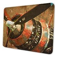 飛行機のプロペラ マウスパッド 20 X 24cm 滑り止め 防水 おしゃれ 洗える ビジネス用 家庭用 ゲーム用