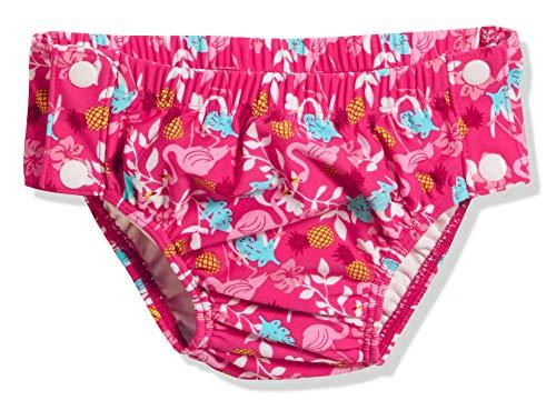 Playshoes Baby-Mädchen Uv-schutz Windelhose Flamingo Zum Knã¶pfen Schwimmwindel, Türkis (Türkis 15), 86 (Herstellergröße: 86/92)