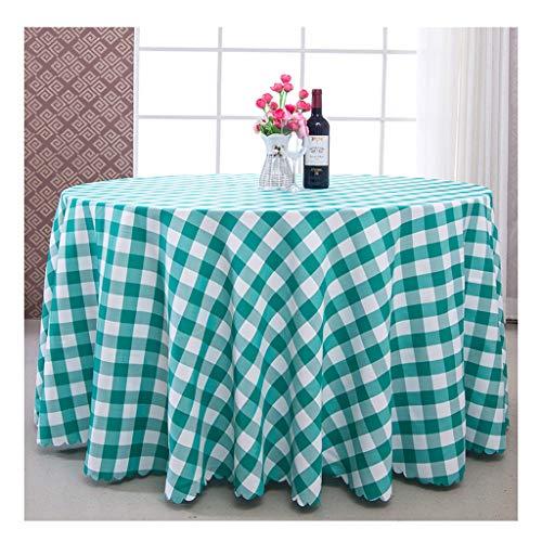 William 337 Mantel redondo – estilo europeo para sala de estar, mesa de café, mesa redonda de hotel, mantel (color: A, tamaño: redondo-320 cm)