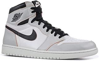 Nike Mens Air Jordan 1 High OG Defiant Light Bone Light Bone/Black-Crimson Leather Size 13
