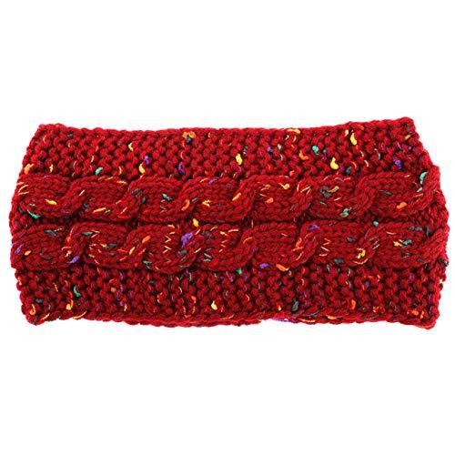 Noah rationele Multi Kleurrijke Gebreide Haak Twist Vrouwen Hoofdband Winter Oor Warmer Elastische Haarband Voor Vrouwen Brede Haaraccessoires DOOR