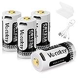 Vecukty Pilas Recargables para Arlo Cámara, 4 Pack 3.7V 800mAh Baterías con USB Cable 4 en 1, Compatible con Arlo Wireless Security Camera VMC3030 VMS3030 VMS3230 VMS3330 VMS3430 VMK3200