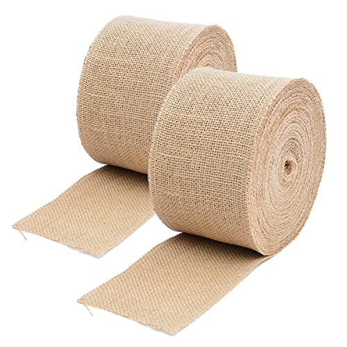 Tosnail 59 Feet Long 3' Wide Burlap Fabric Ribbon Roll for Craft Project, Wedding Decoration