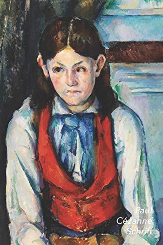 Paul Cézanne Schrift: Jongen in Rood Vest - Trendy & Hip Notitieboek - Ideaal Voor School, Studie, Recepten of Wachtwoorden