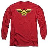 DC Comics Wonder Woman Logo Adult Long-Sleeve...