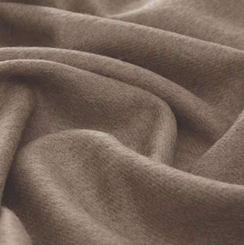 Lorenzo Cana High End Luxus Alpakadecke aus 100% Alpaka - Wolle vom Baby - Alpaka flauschig weich Decke Wohndecke Sofadecke Tagesdecke Kuscheldecke 9608377