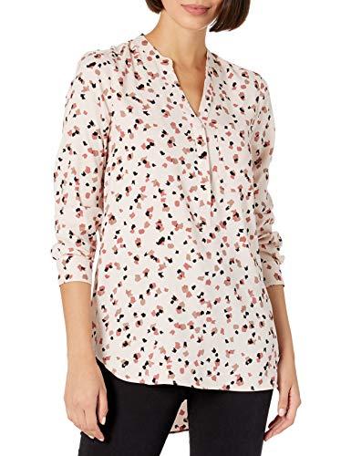 Amazon Brand - Daily Ritual Women's Georgette Henley Tunic, Confetti Print, X-Large