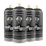 AutoFullCar Pack Sprays Full Dip Negro Mate o Negro Brillo Llantas hasta 20 pulgadas FullDip (NEGRO MATE)