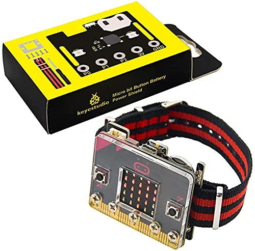 KEYESTUDIO BBC Micro:bit Smart Coding Kit para niños BBC Micro: Bit DIY Watch Basic Programming for Micro: Bit principiantes y estudiantes (sin microbit)