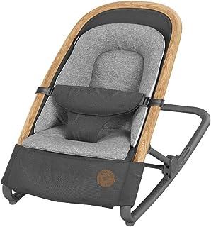 Maxi-Cosi Kori 2-in-1 Babywippe, hochwertige Babyschaukel nutzbar ab der Geburt bis max. 9 kg, natürliches, ergonomisches Schaukeln ohne Elektronik, einfach zusammenklappbar, Essential Graphite grau