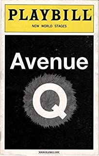 Playbill, New World Stages: Avenue Q (December 2011)