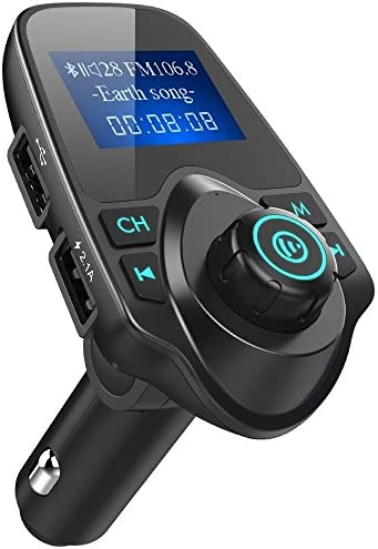 iSunnao Bluetooth Receiver FM Radio Transmitter Car Kit Wireless Audio MP3 Player 3 5mm Aux product image