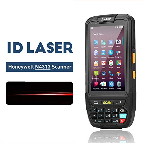WENHU PDA Robuste Terminal Portable Android 7.0 Data Collector Wireless Terminal QR Laser Barcode Scanner Lecteur NFC Terminal 4G,1DMinde966Scanner