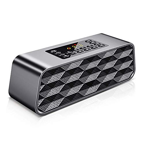 DIHAO Portable Speaker,Digital FM Radio,Bluetooth Speaker/Mains Powered/Long Lasting Rechargable Battery/Loud Volume/Premium Stereo Sound