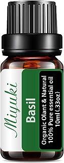 Miyuki Basil Essential Oil Organic Plant & Natural 100% Pure Therapeutic Grade Aromatherapy Basil Oil for Diffuser, Humidi...