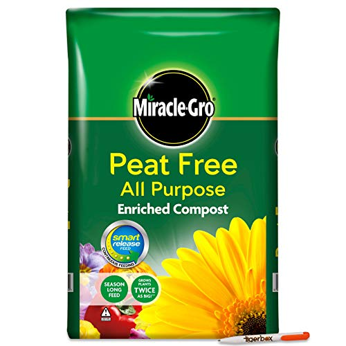 Tigerbox Bundle 8 Litre Miracle-Gro Peat Free All Purpose Enriched Compost