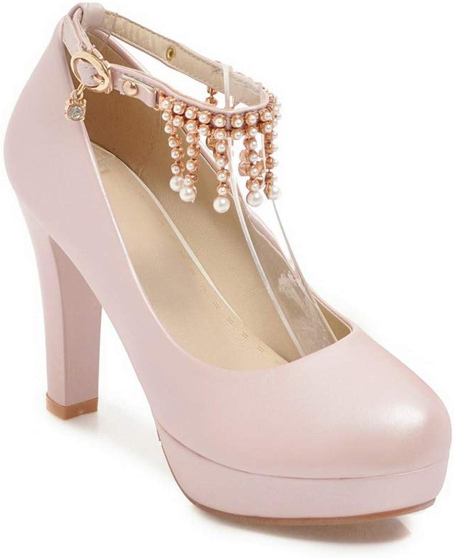 AdeeSu Womens Fringe Glitter Platform Urethane Pumps shoes SDC05864