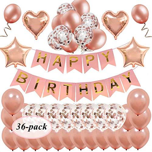 Decoraciones de cumpleaños -  Artículos de Fiesta Coloridos para Adultos y niños -  Banner de Feliz cumpleaños | Dot Garland | Papel de Seda Pom Pom Flores | Globos