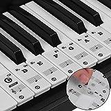 Pegatinas para pianos o teclados,Pegatinas para teclados,Etiqueta engomada del teclado de piano,Pegatina Teclado Electrónico para 37/49/54/61/88 Teclas. (Negro)