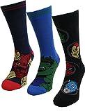 6 pares / 3pares de calcetines con diseños de superhéroes de Marvel, Spiderman, Hulk, Capitán América, Iron Man Avengers 3 Pairs 39-46