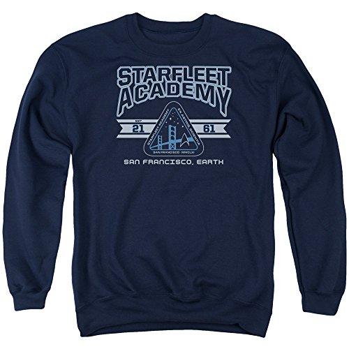 Star Trek - - Starfleet Asademy Terre Pull pour hommes, Large, Navy