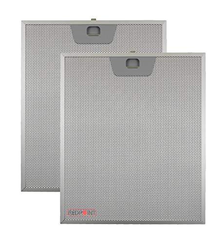Kit 2 Stück Aluminium-Fettfilter Austauschfilter Dunstabzugshaube Für FABER mm.253 x 300 x 8