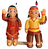 Air Blown Inflatable 4' Native American Boy and Girl Yard Decoration