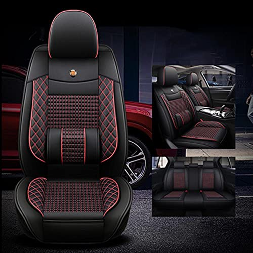 Coprisedili Auto Universale per BMW E39 F10 E60 F30 E46 E36 X1 E84 E90 Serie 1 E87 F20 E46 Tuning E60 X5 E53 F30 E70 Coprisedile Auto Accessori, Nero Rosso Standard