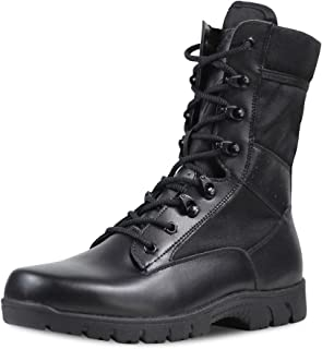 PY- FLRINGPIN Men's Ultralight Breathable Combat Boots Military Boots Commando Outdoor Desert Tactical Boots Army Patrol Boots Security Police Shoes A-17