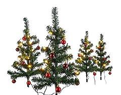 HI 4er Set Mini Weihnachtsbäume