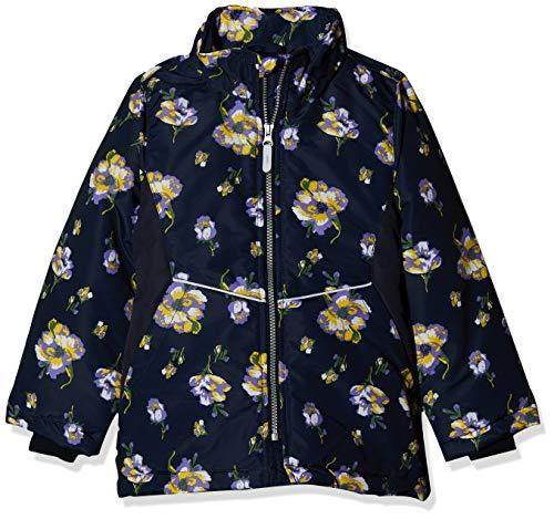 NAME IT Mädchen NKFMAXI Jacket Flower Jacke, Mehrfarbig (Dark Sapphire Dark Sapphire), (Herstellergröße: 140)
