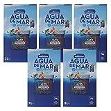 Mediterranea - Agua de Mar para consumo alimentario en Pack Ahorro de 5 Box de 2 Litros (Total 10 litros) - Alto contenido en Magnesio.