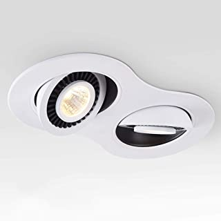 Focos LED de 3 W Alto brillo Doble empotrable de techo empotrable Downlight Techo de ahorro de energía Panel plano Luces A...