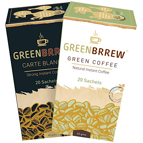 Greenbrrew Green Coffee for Weight Loss – 60g Each (20 Servings Per Pack) – Natural & Strong Flavor