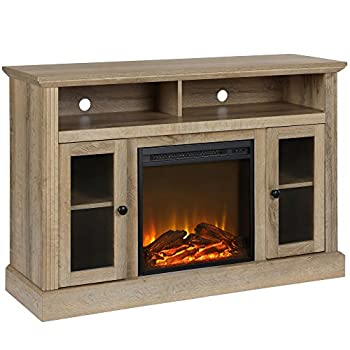 Ameriwood Home Chicago Fireplace TV Stand for TVs up to 50  Natural