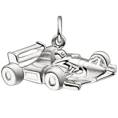 Colgante Coche de Carreras Deporte carro Formula1925plata Niños colgante parcialmente mate