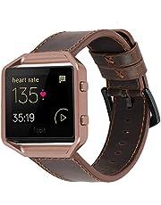 iBazal Leren horlogebandje, compatibel met Fitbit Versa/Versa 2/Versa Lite, vervangende armband voor Fitbit Blaze