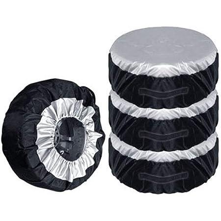 Szlsl88 Housse de rechange pour roue de secours, housses de rangement anti-poussière pour pneus de 13 à 19″, 1/2/4 pièces 4pcs Voir image