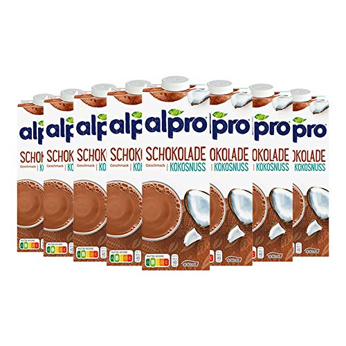 8x Alpro - Kokosnuss Drink Choco - 1000ml