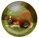 Danbury Mint Boxer Dog Plate by Simon Mendez Bottoms Up CP2283