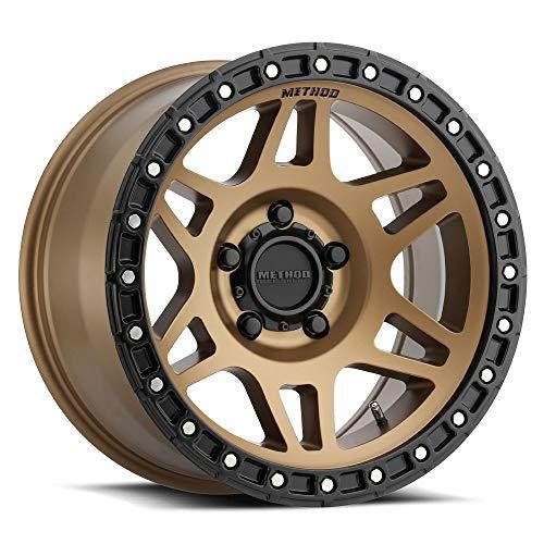 Method Race Wheels Grid Titanium//Black Street Loc Wheel with Zinc Plated Accent Bolts 18x9//6x5.5, +18mm offset 18 mm offset