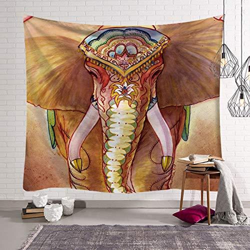 KHKJ Tapiz de Elefante de Perlas de Colores 3D Estilo Mosaico Tapiz Hippie Mandala cojín de Tela decoración de Sala de Estar A9 95x73cm