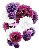 Papier-Bommeln–20Stück (25,4, 30,5 und 35,6cm),Papierblumen, perfekt für Hochzeitsdekoration, Geburtstag, Tisch- und Wanddekoration