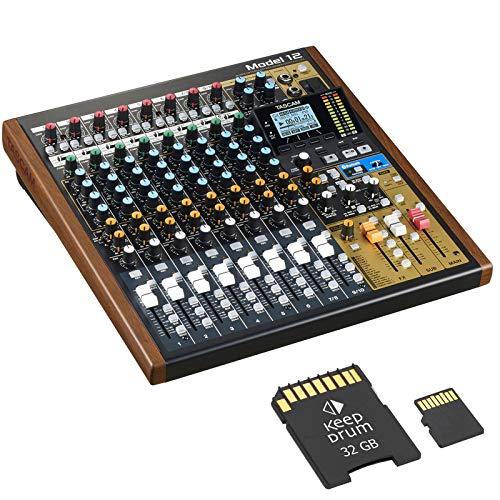 Tascam Mesa de mezclas modelo 12 con interfaz de audio + tarjeta de...
