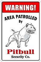 パトロール中の警告エリア 金属板ブリキ看板警告サイン注意サイン表示パネル情報サイン金属安全サイン
