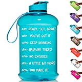 HydroMATE Half Gallon 64Oz Motivational Water Bottle with Time Marker...