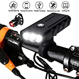 BESTSUN USB Rechargeable Bicycle Front Light and Tail Light Set, Super Bright 3